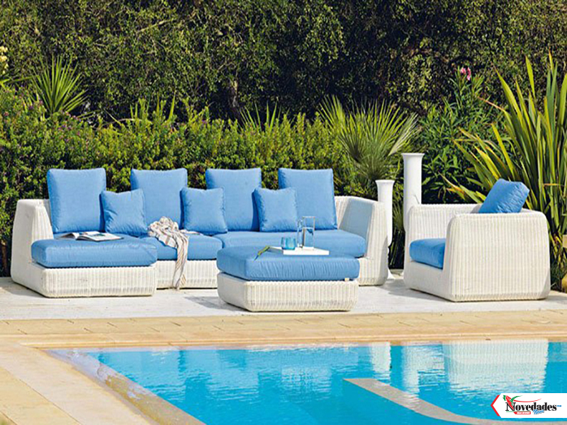Mueble Para Jardin. Beautiful Muebles De Mimbre Para Exteriores With ...