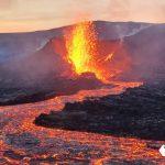 Erupción volcánica se convierte en enormes géiseres de lava en Islandia